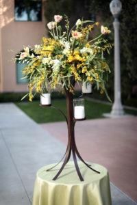 Cascade 1 - wedding centerpieces and candelabras