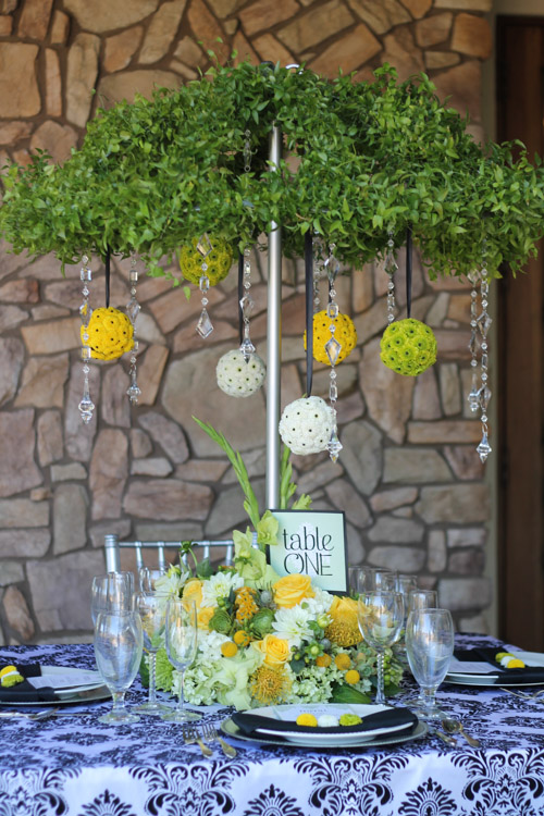 April Showers Centerpiece ⋆ Wedding Amp Party Rentals San