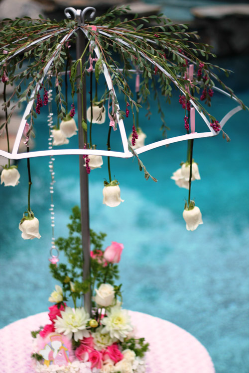 decorated umbrellas for weddings april showers centerpiece wedding amp rentals san 3345