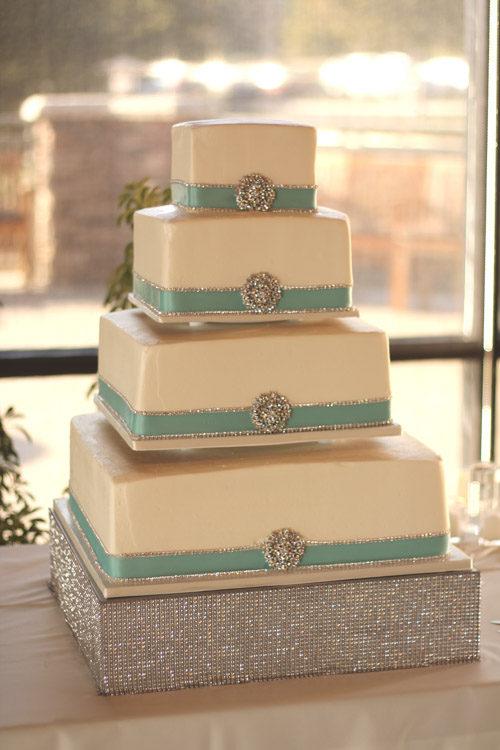 Tier Wedding Cake Stand Square