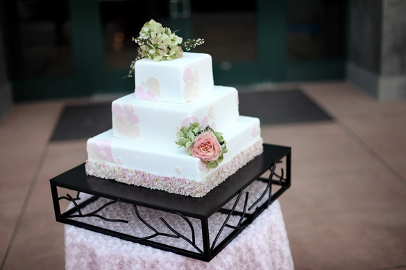 branch cake stand square wedding party rentals san diego ca