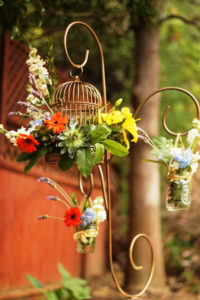 Love Birds 1 - wedding centerpieces and candelabras