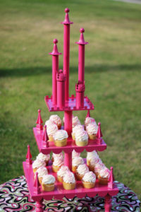 Princess Castle 1 - cake and cupcake stands