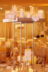 Riviera 1 - wedding centerpieces and candelabras