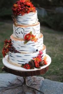 rustic redwood cake stand large 3 - wedding cake and cupcake stands