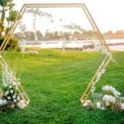 Hexagon Arch 3 - wedding arch