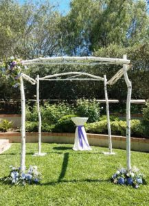 Birch Canopy 2 - wedding arch