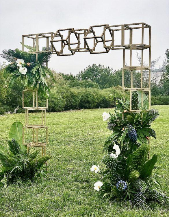 Cube wedding arch
